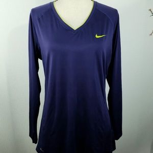 Nike Pro Dri-Fit Purple Top Long Sleeve Work Out
